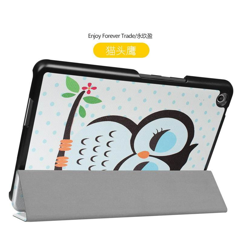 zenpad 3 80 z581kl case with different style patterns and 3 stand Owl: