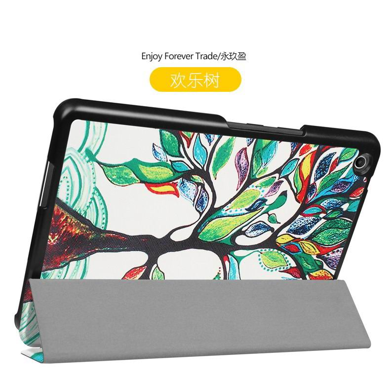 zenpad 3 80 z581kl case with different style patterns and 3 stand Happy tree: