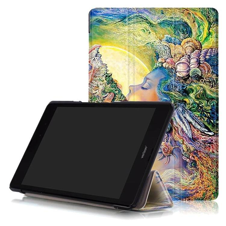 zenpad 3 80 z581kl case with multi style pattern and 3 stand The sea of women: