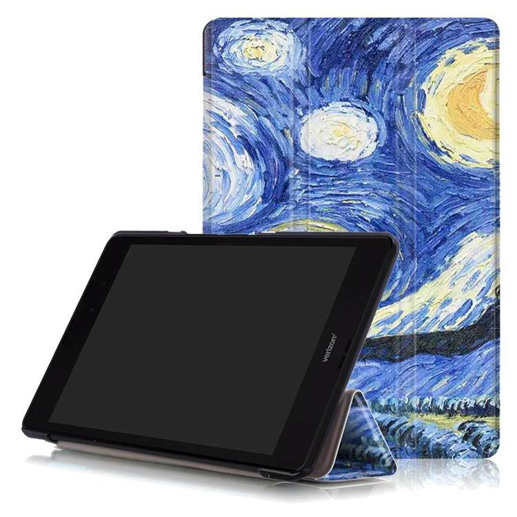 zenpad 3 80 z581kl case with multi style pattern and 3 stand Starry sky: