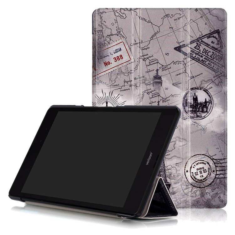 zenpad 3 80 z581kl case with multi style pattern and 3 stand Vintage Tower: