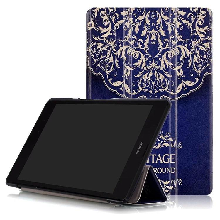 zenpad 3 80 z581kl case with multi style pattern and 3 stand European flower Teng: