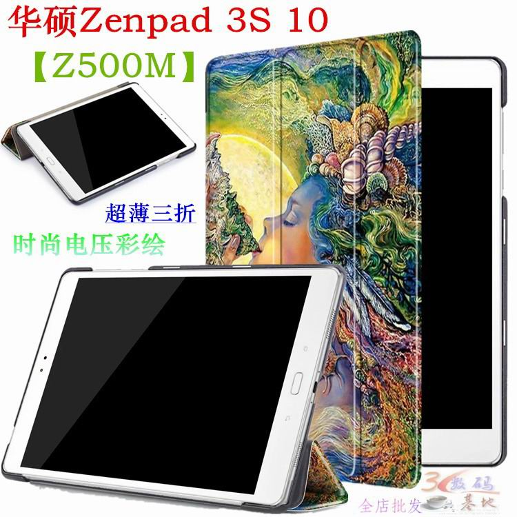 zenpad 3s 10 z500m case with variety pictures 3 stand and transparent cover