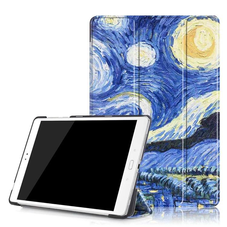 zenpad 3s 10 z500m case with variety pictures 3 stand and transparent cover Starry sky: