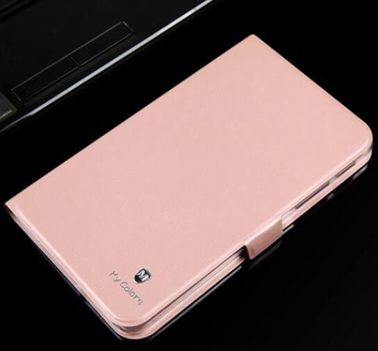 galaxy tab a 7 0 2016 business case with 2 stand and transparent silicone cover Rose powder: