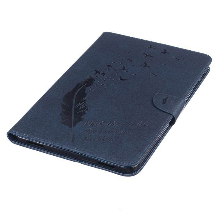 galaxy tab a 10 1 2016 business case with feather and birds pattern 2 stand and card holders and silicone cover