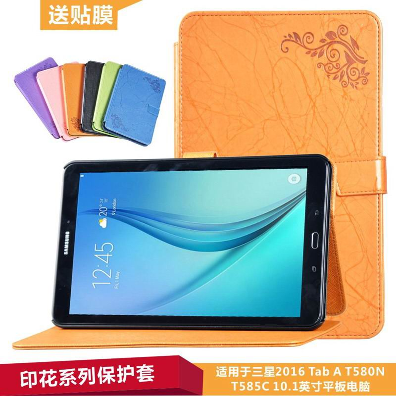 galaxy tab a 10 1 2016 business case with leather style multicolor pattern and 2 stand