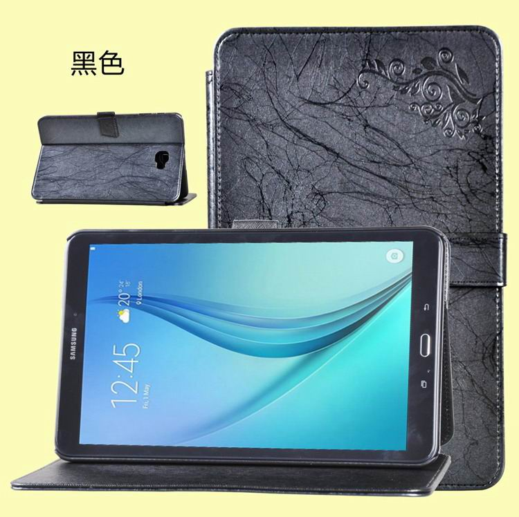 galaxy tab a 10 1 2016 business case with leather style multicolor pattern and 2 stand black:
