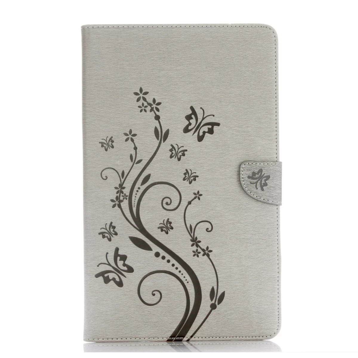 galaxy tab a 10 1 s pen 2016 business multicolor case with monochrome flowers 2 stand and credit card pockets Gray: