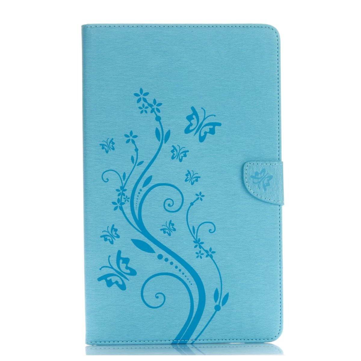 galaxy tab a 10 1 s pen 2016 business multicolor case with monochrome flowers 2 stand and credit card pockets Sky blue: