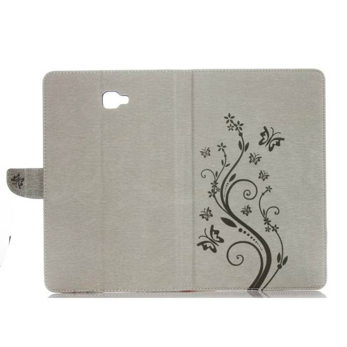 galaxy tab a 10 1 s pen 2016 business multicolor case with monochrome flowers 2 stand and credit card pockets