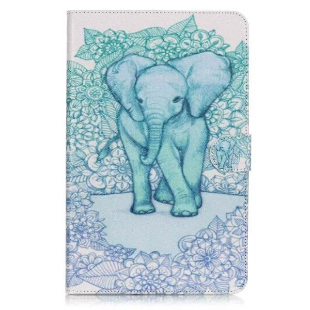 galaxy tab a 10 1 2016 case with anime heroes 2 stand and card holders Elephant: