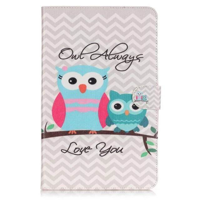 galaxy tab a 10 1 2016 case with anime heroes 2 stand and card holders Owl always love you: