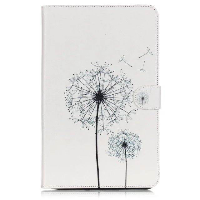 galaxy tab a 10 1 2016 case with anime heroes 2 stand and card holders White dandelion: