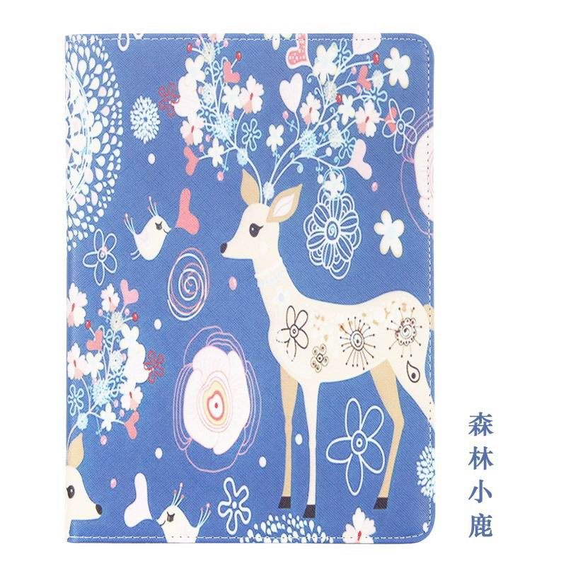 galaxy tab a 10 1 2016 case with cute girls pattern 2 stand and dots inside Forest fawn:
