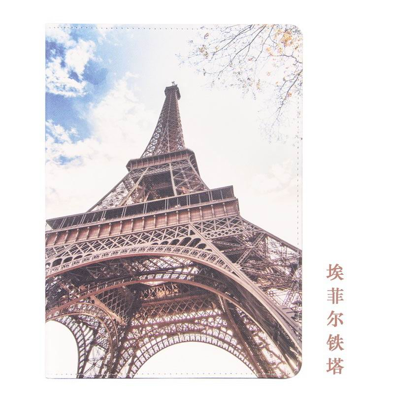 galaxy tab a 10 1 2016 case with cute girls pattern 2 stand and dots inside Eiffel Tower: