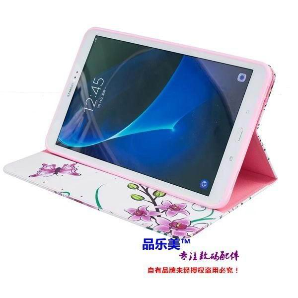 galaxy tab a 10 1 2016 case with light pattern and black and white skin with 2 stand and card holders
