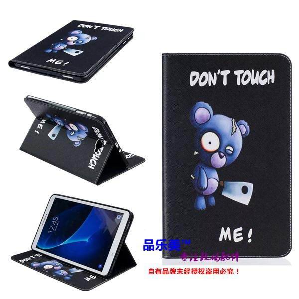galaxy tab a 10 1 2016 case with light pattern and black and white skin with 2 stand and card holders BF---4: