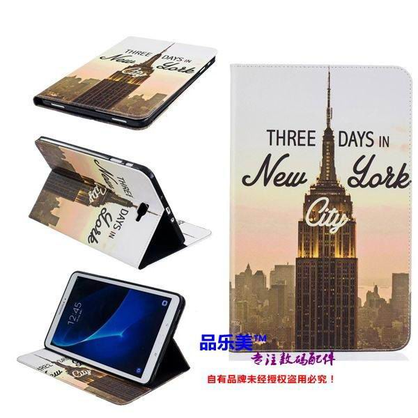 galaxy tab a 10 1 2016 case with light pattern and black and white skin with 2 stand and card holders BF---8: