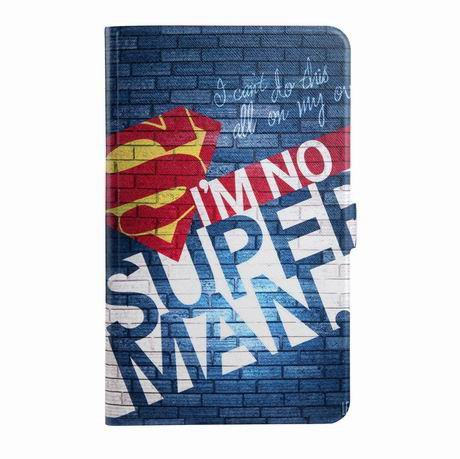 galaxy tab a 7 0 2016 case with wide different patterns 2 stand and transparent cover I am not Superman: