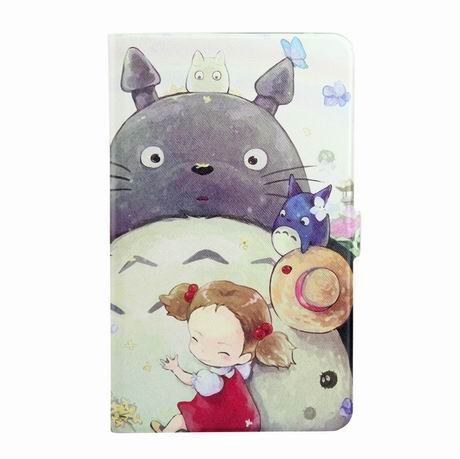 galaxy tab a 7 0 2016 case with wide different patterns 2 stand and transparent cover Totoro girl: