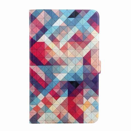 galaxy tab a 7 0 2016 case with wide different patterns 2 stand and transparent cover Colorful grid:
