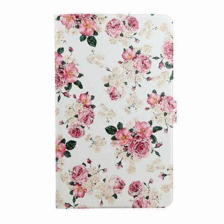 galaxy tab a 7 0 2016 case with wide different patterns 2 stand and transparent cover Rose: