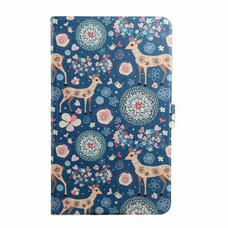 galaxy tab a 7 0 2016 case with wide different patterns 2 stand and transparent cover Deer: