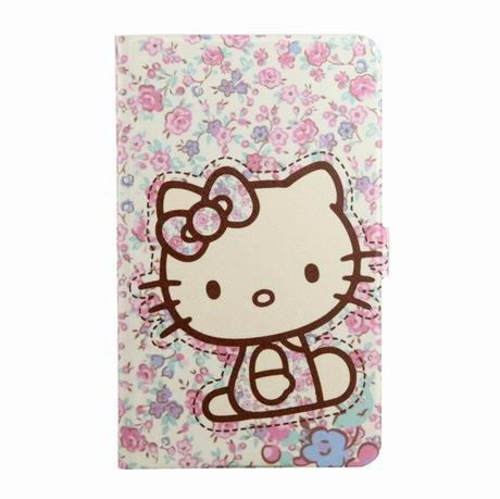 galaxy tab a 7 0 2016 case with wide different patterns 2 stand and transparent cover Floral kittens: