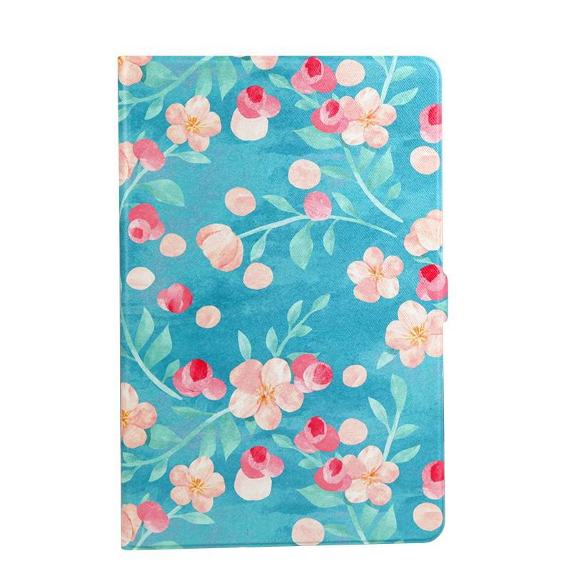 galaxy tab a 10 1 s pen 2016 case with wide styles skin with 2 stand Blue background small floral: