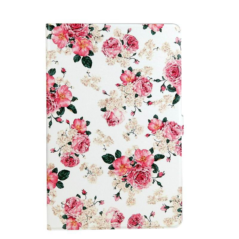 galaxy tab a 10 1 s pen 2016 case with wide styles skin with 2 stand Rose: