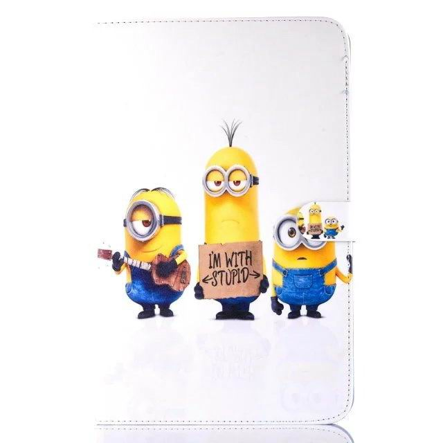 galaxy tab a 10 1 2016 children case with the minions heroes No. 3 pattern: