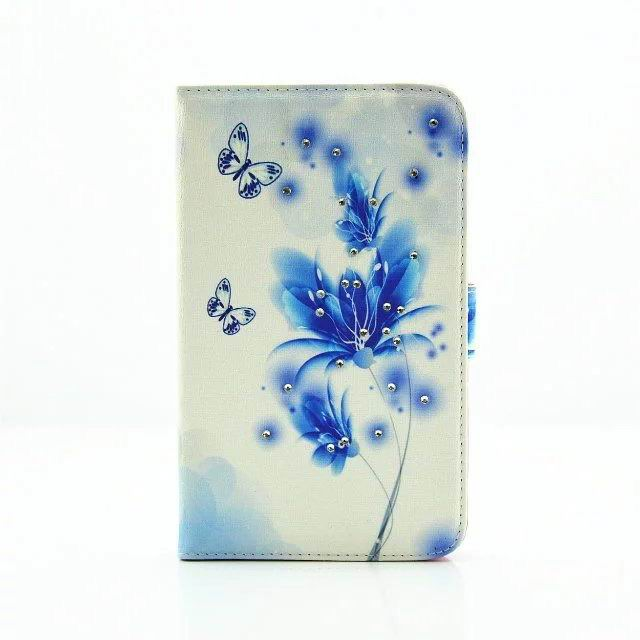 galaxy tab a 7 0 2016 cute case with different butterfly patterns and 2 stand