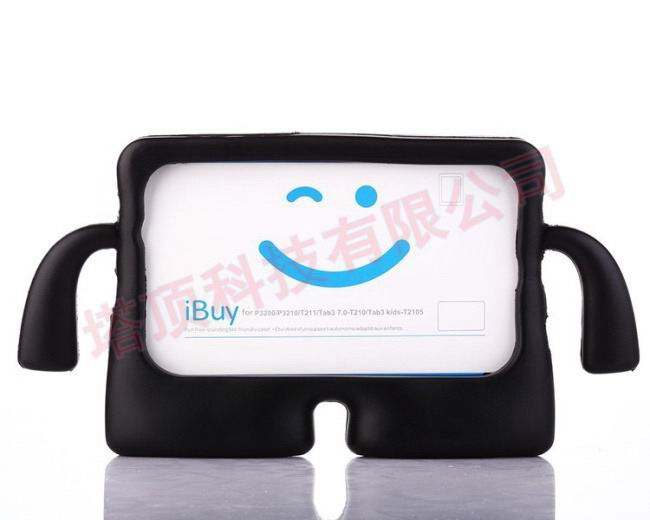 galaxy tab a 7 0 2016 plastic protective cover Black: