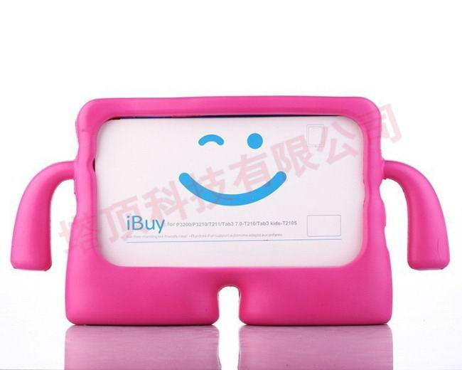 galaxy tab a 7 0 2016 plastic protective cover Rose red: