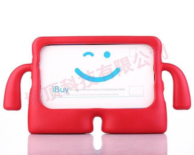 galaxy tab a 7 0 2016 plastic protective cover Red: