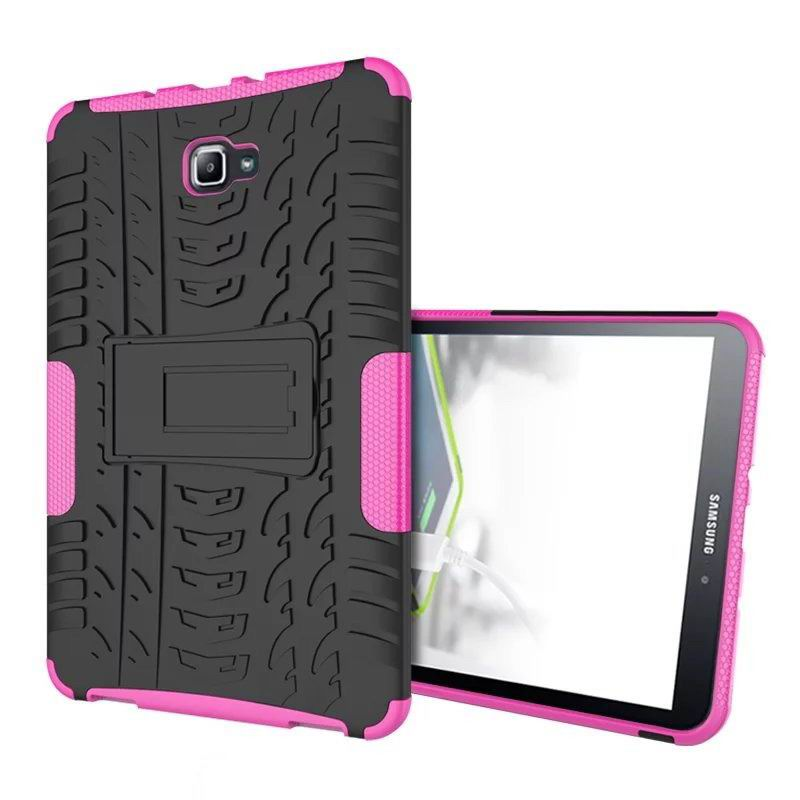 galaxy tab a 10 1 2016 protected cover with stand Rose red: