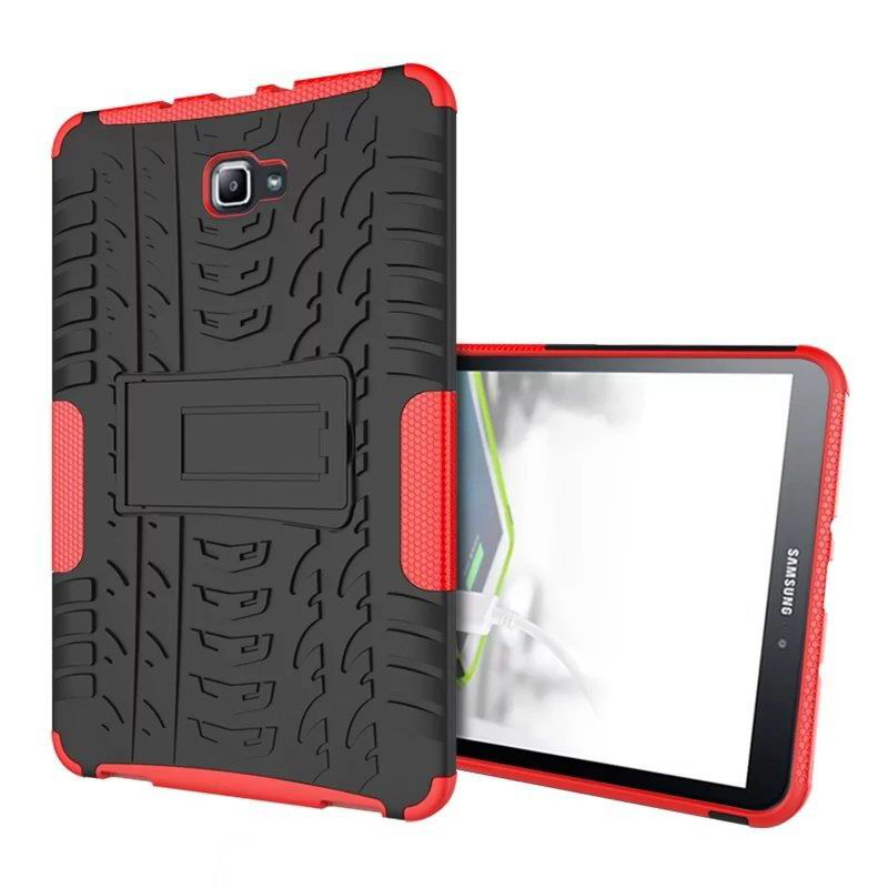 galaxy tab a 10 1 2016 protected cover with stand Red: