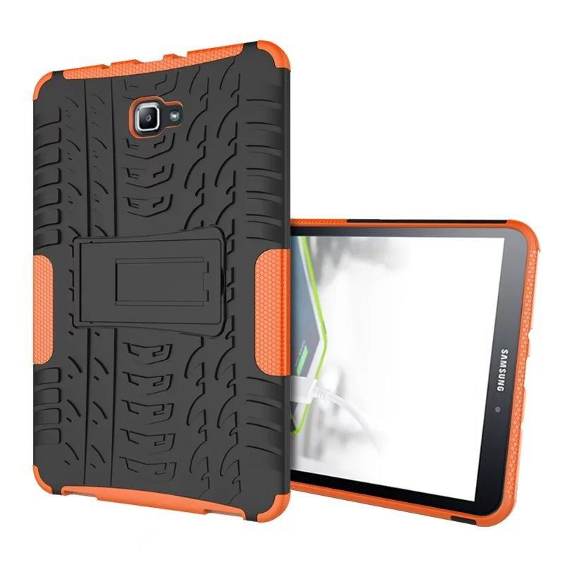 galaxy tab a 10 1 2016 protected cover with stand Orange: