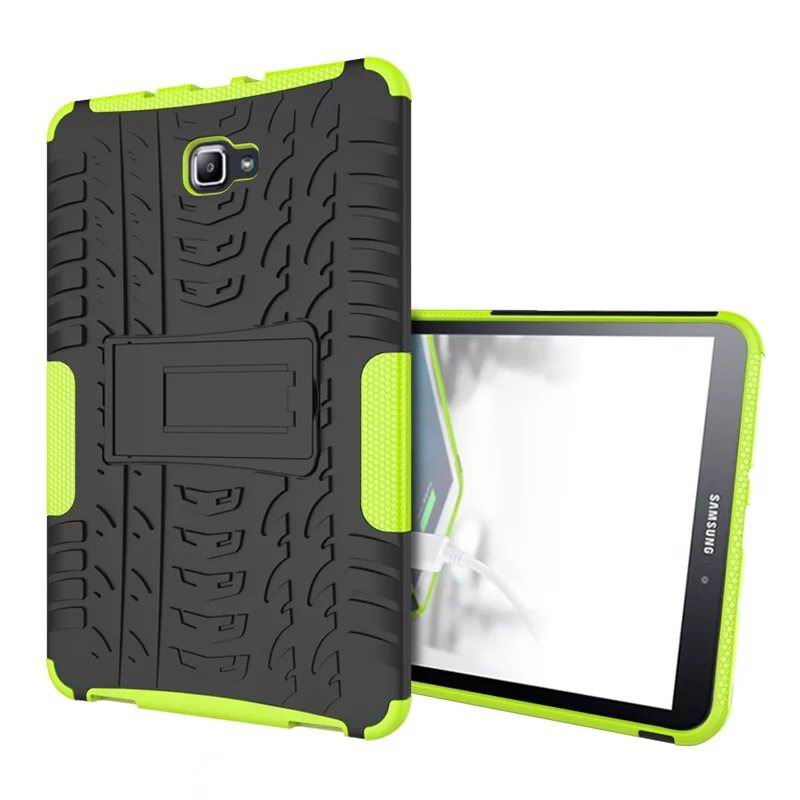 galaxy tab a 10 1 2016 protected cover with stand Green: