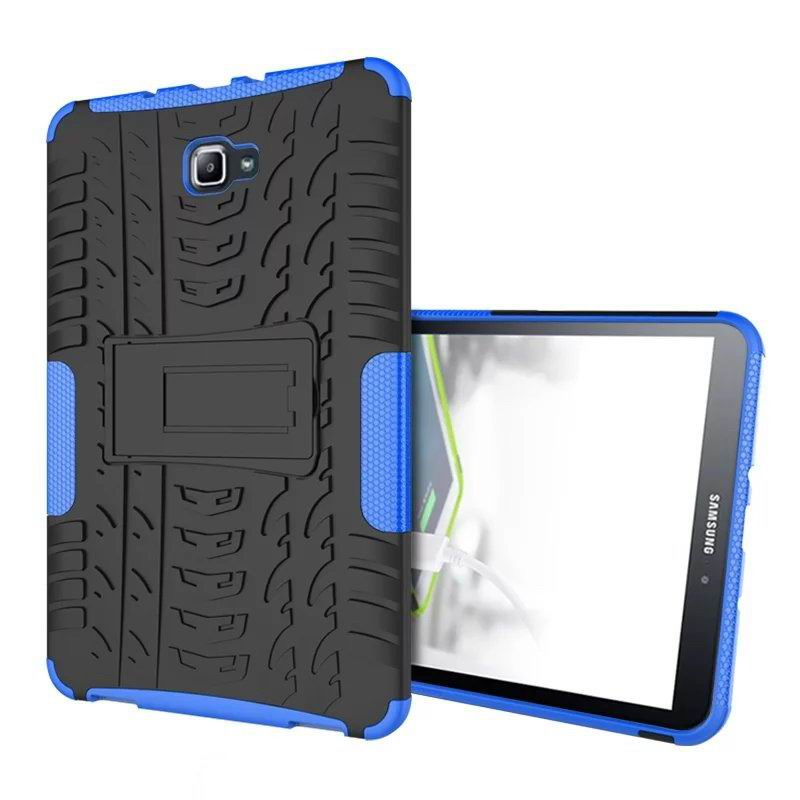 galaxy tab a 10 1 2016 protected cover with stand Blue: