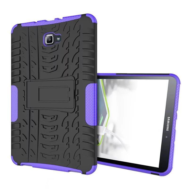galaxy tab a 10 1 2016 protected cover with stand Purple: