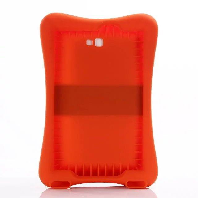 galaxy tab a 10 1 2016 protective silicone cover 2 orange red: