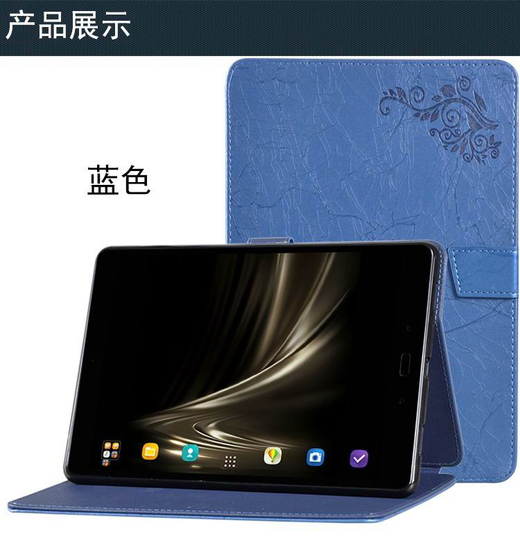 zenpad 3s 10 z500m stylish case with flower pattern and stand blue: