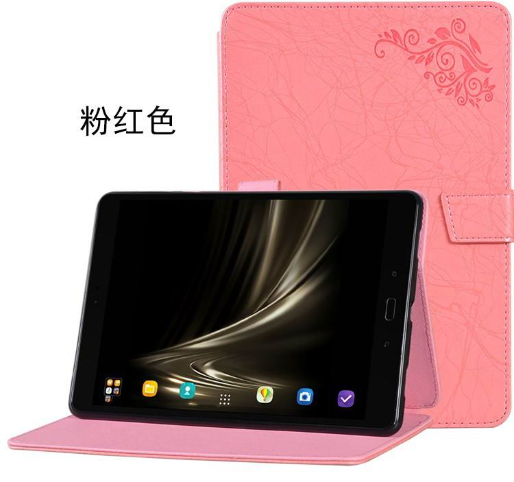 zenpad 3s 10 z500m stylish case with flower pattern and stand red: