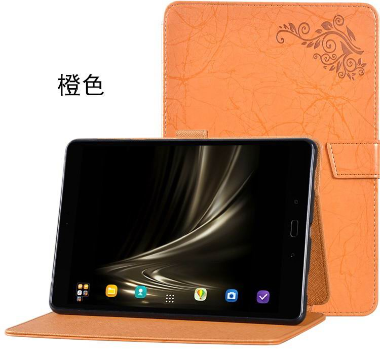 zenpad 3s 10 z500m stylish case with flower pattern and stand orange: