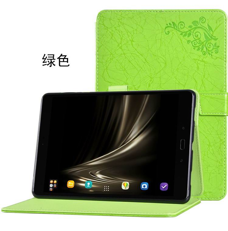 zenpad 3s 10 z500m stylish case with flower pattern and stand green:
