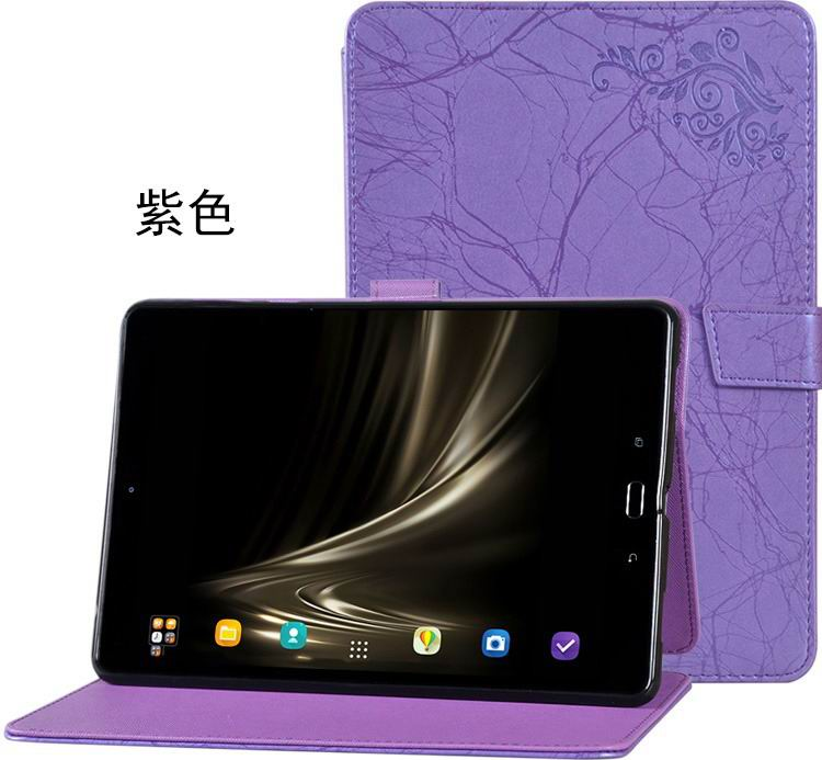 zenpad 3s 10 z500m stylish case with flower pattern and stand purple: