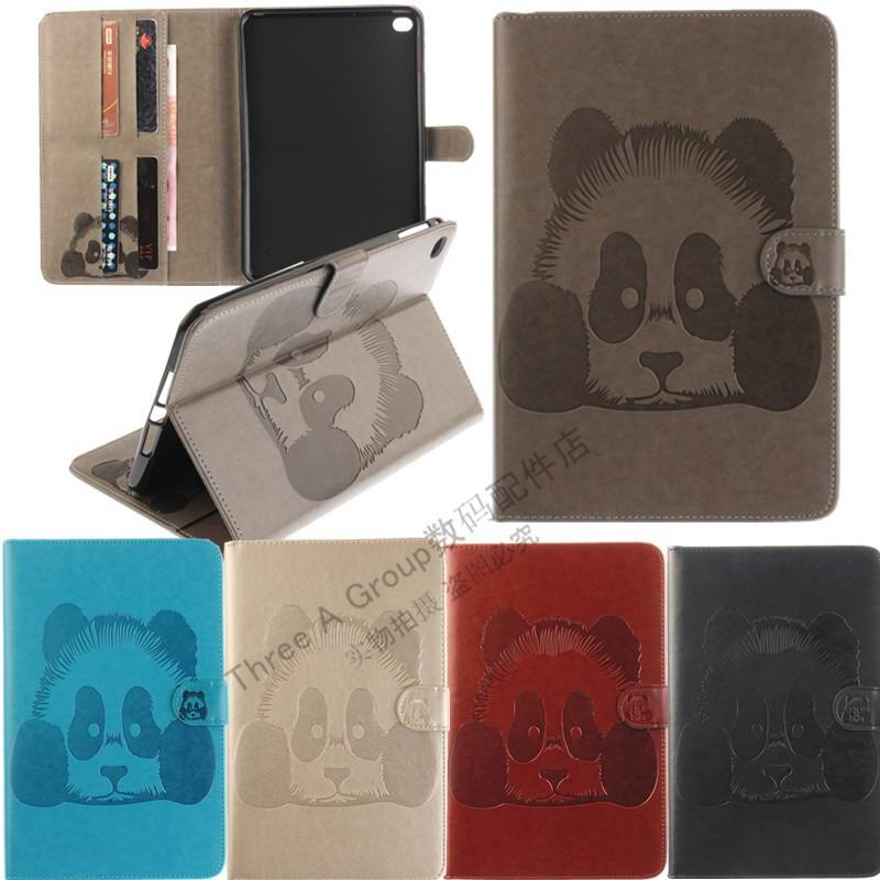 galaxy tab a 10 1 s pen 2016 stylish case with panda multicolor pattern 2 stand and card holders