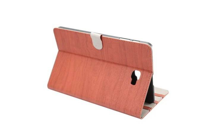 stylish case with wooden pattern and stand 00